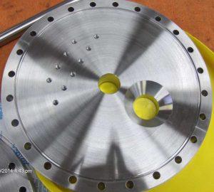 plasma coater vacuum flange