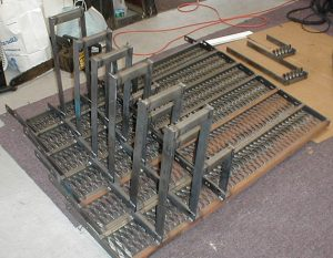finished welded truck steps